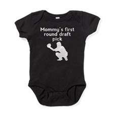 Mommys First Round Draft Pick Baseball Baby Bodysu