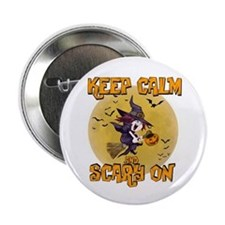 "Witch Keep Calm 2.25"" Button"