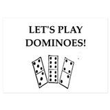 Dominoes 5 x 7 Flat Cards