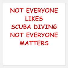 scuba diving Invitations