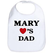 Mary loves dad Bib