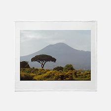 Powerful Nature Mount Vesuvius Italy Throw Blanket