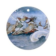 Sea Fairies Kids Ornament (Round)