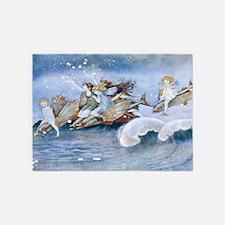 Sea Fairies Kids 5'x7'Area Rug