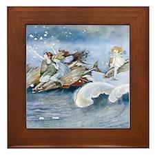 Sea Fairies Kids Framed Tile