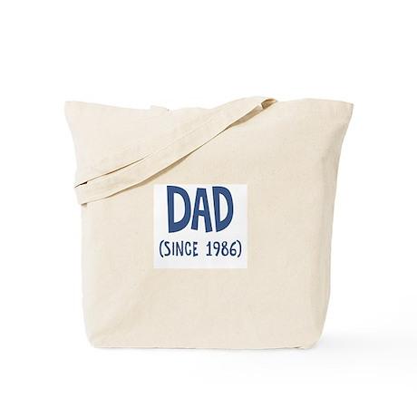 Dad since 1986 Tote Bag