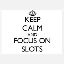 Keep Calm and focus on Slots Invitations