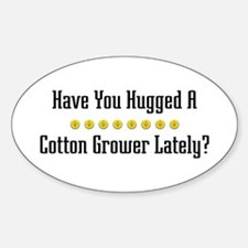 Hugged Cotton Grower Oval Decal