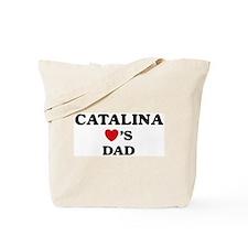 Catalina loves dad Tote Bag