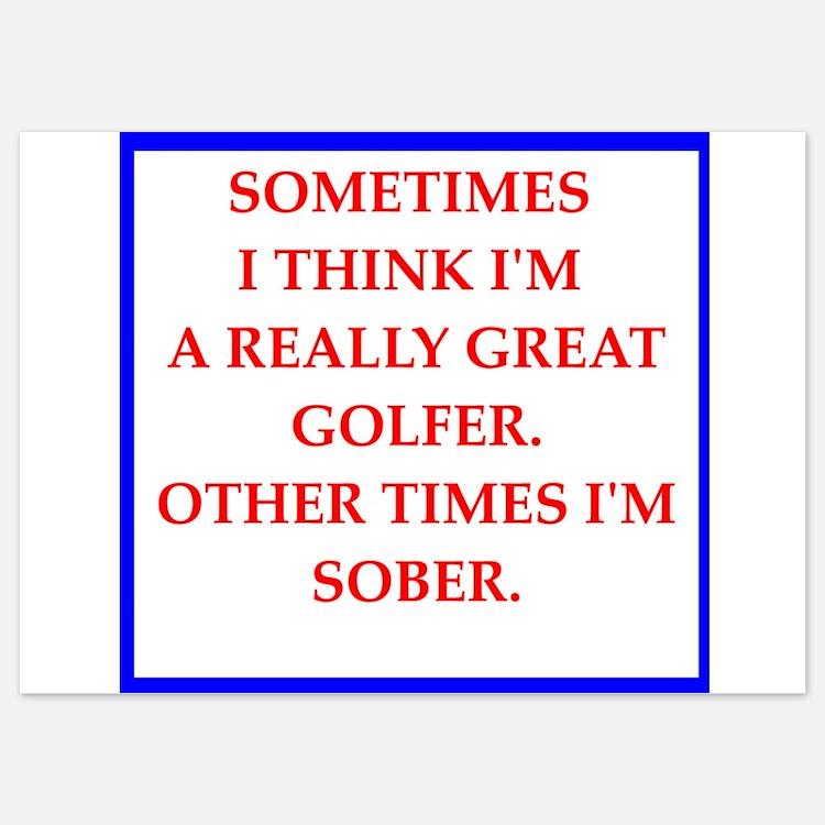 golfer Invitations