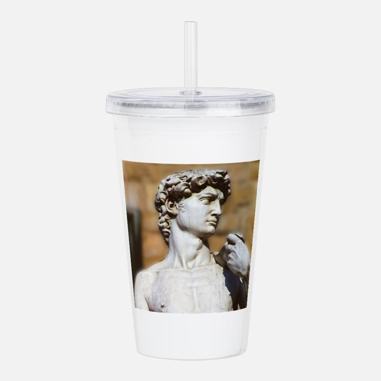 Famous David Statue in Acrylic Double-wall Tumbler