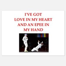 fencing 5x7 Flat Cards