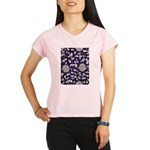 Abstract Whimsical Flowers Performance Dry T-Shirt