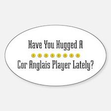 Hugged Cor Anglais Player Oval Decal