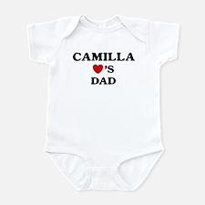Camilla loves dad Infant Bodysuit