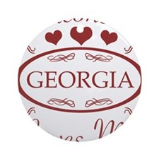 Somebody In Georgia Loves Me Ornament (Round)