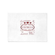 Somebody In Georgia Loves Me 5'x7'Area Rug