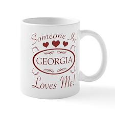 Somebody In Georgia Loves Me Mugs