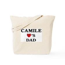 Camile loves dad Tote Bag