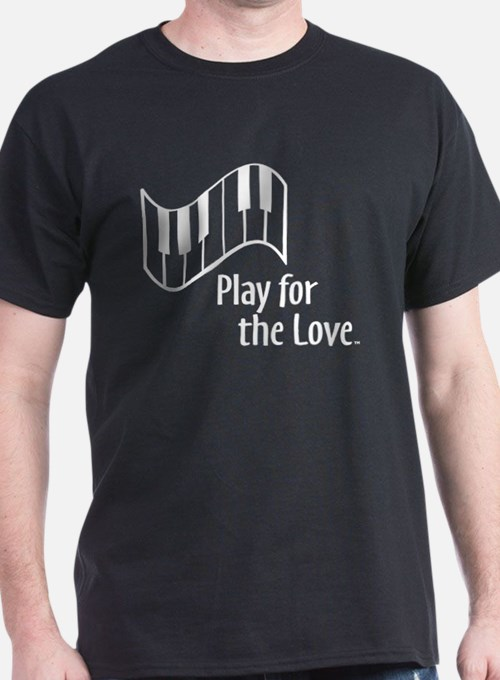PLAY FOR THE LOVE PIANO white T-Shirt
