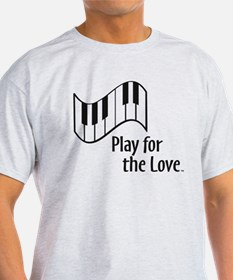 PLAY FOR THE LOVE PIANO black T-Shirt