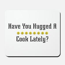 Hugged Cook Mousepad