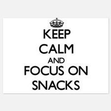 Keep Calm and focus on Snacks Invitations