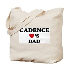 Cadence loves dad Tote Bag