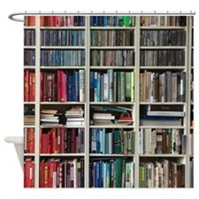 colorful library 2 Shower Curtain