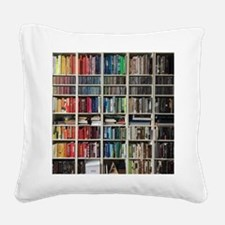 colorful library 2 Square Canvas Pillow