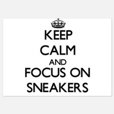 Keep Calm and focus on Sneakers Invitations