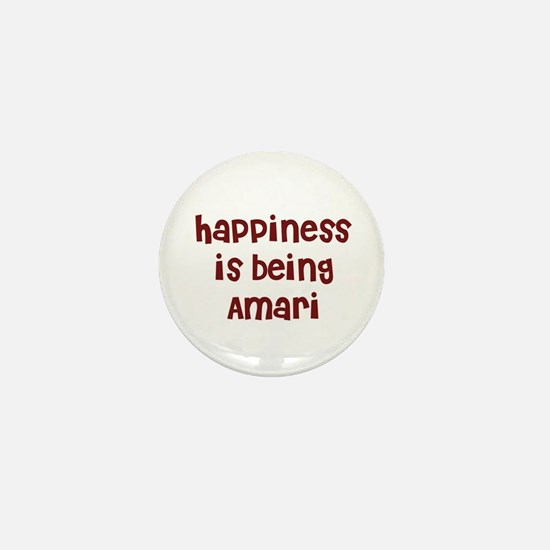 happiness is being Amari Mini Button