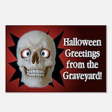 Halloween Cross-Eyed Skull Postcards (8)