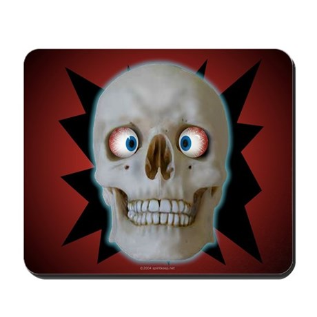 Halloween Cross-Eyed Skull Mousepad