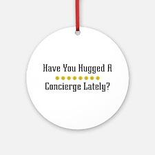 Hugged Concierge Ornament (Round)