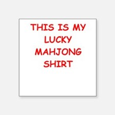"MAHJONG Square Sticker 3"" x 3"""