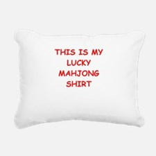 MAHJONG Rectangular Canvas Pillow