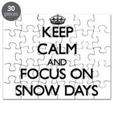 Keep Calm and focus on Snow Days Puzzle
