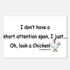 Short Attention Span Chic Postcards (Package of 8)