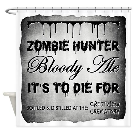 ZOMBIE HUNTER Shower Curtain By ScaryMaryApothecary
