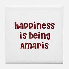 happiness is being Amaris Tile Coaster
