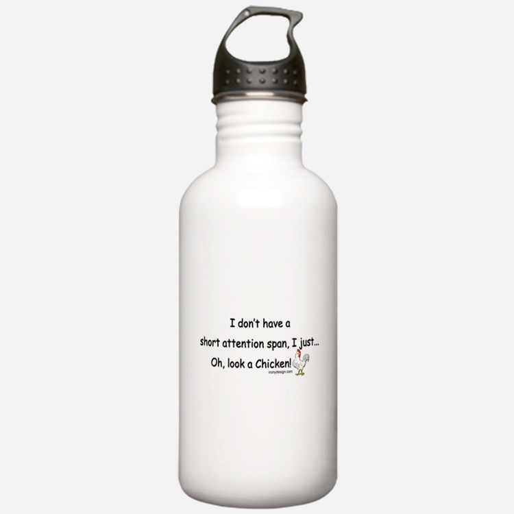 Short Attention Span C Water Bottle