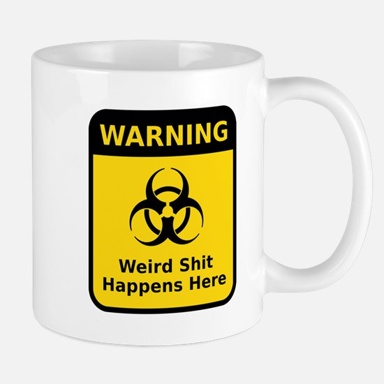 Weird Warning Sign Mugs