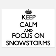 Keep Calm and focus on Snowstorms Invitations