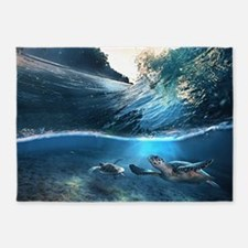 Sea Turtles 5'x7'Area Rug