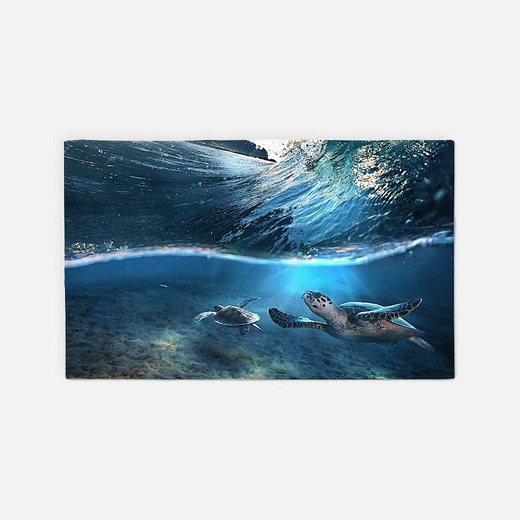 Sea Turtles 3'x5' Area Rug