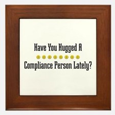 Hugged Compliance Person Framed Tile