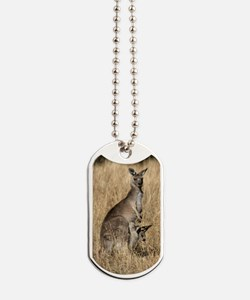Kangaroos in Australian Bush Dog Tags