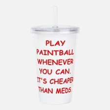 paintball Acrylic Double-wall Tumbler