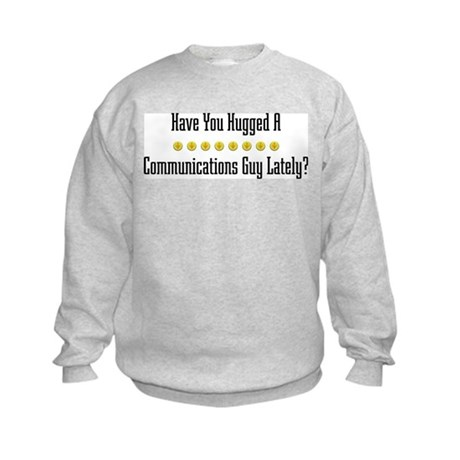 Hugged Communications Guy Kids Sweatshirt